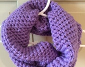 Kid Scarf - Cowl Purple Toddler Child Size Infinity Cowl - Scarf