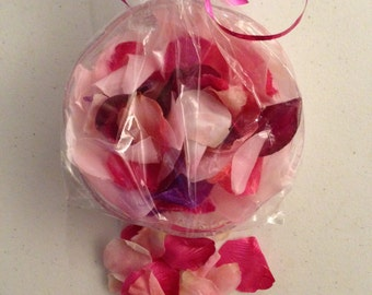 50 PIECE - Handmade Bath/Kitchen Pretty In Pink Rose Petal Soaps