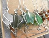Evergreen Ornament Hooks Lake Erie Beach Glass