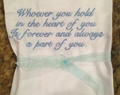 Sympathy Condolence Gift - Personalized Handkerchief Custom Embroidered