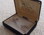 Vintage Cuff Links Engraved Sterling Silver Filene's Box