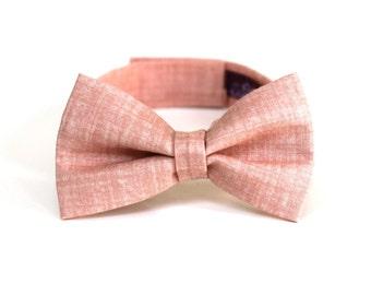 Boy's Bow Tie - Misty Rose - Inspired by J.Crew - any size ringbearer bowtie