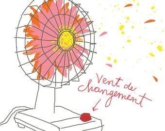 Carococo / postcard 4x6 / wind of change / by Carol-Anne Pedneault