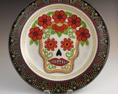Day of the Dead Skull with Poppies