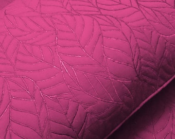 cotton bedspread pink leaf quilt pattern King size bedspread bedding coverlet embroidered contemporary quilt