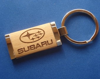SUBARU Key Chain - Laser Engraved wood.  Great Birthday Gift for Him or Her, New Car Gift, Graduation Gift