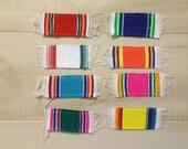Mini Small Mexican Serape Sarape Blanket Party Decoration Giveaway Favor Coaster