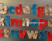 Golf Themed LOWERCASE magnetic ABC's Cotton Fabric Letters READY to Ship