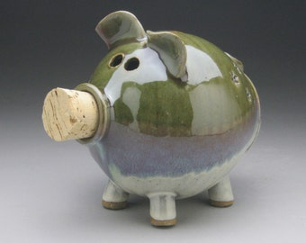 Ceramic Piggy Bank with Little Flowers - Made to Order
