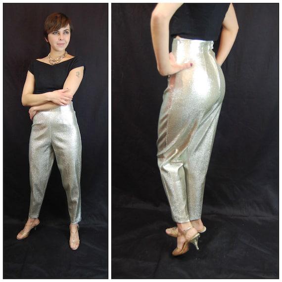 silver capri pants - Pi Pants