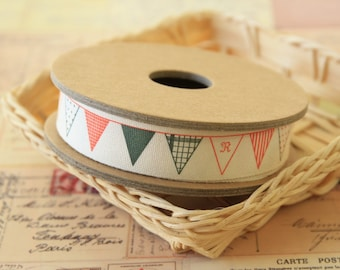 3m zakka Bunting FLAGS banner Cotton sewing tape label trim