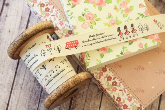 zakka 3m LITTLE SOLDIERS woven Cotton Blended Ribbon fabric sewing tape labels