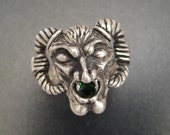 Sterling Gargoyle Ring