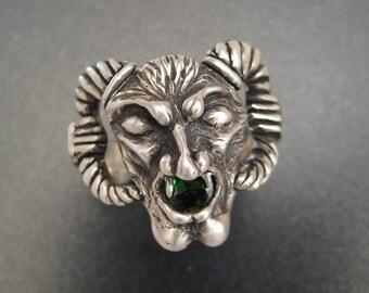 Sterling Gargoyle Ring