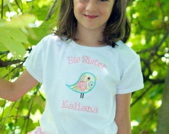 Big Sister Shirt - Big Sister BIrd Shirt - Big Sis Shirt - Big Brother Shirt - Little Sister or Brother Bodysuit