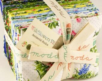 WILDFLOWERS VII fat quarters (25) Moda Sentimental Studios BLUEBONNETS quilt fabric shabby Victorian Texas royal blue lupines