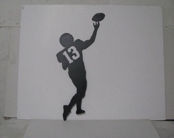 Football Player 013 CH Metal Sports Lawn Wall Yard Art Silhouette