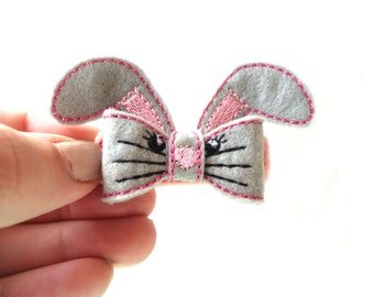 Spring Bunny Bow Feltie