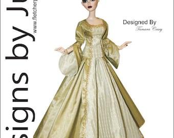 "PDF Victorian Charm Pattern for 18.25"" Evangeline Ghastly Dolls Wilde Imagination"