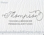 Custom Address Stamp, Self Inking Rubber Stamp, Calligraphy Stamp, Personalized Gift, Custom Address Rubber Stamp, wedding gift