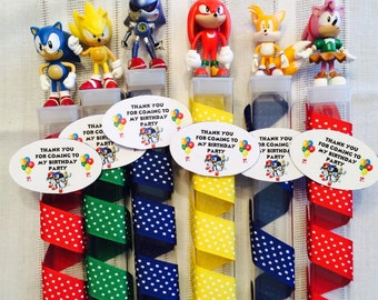Super Sonic Hedgehog Birthday Party favors