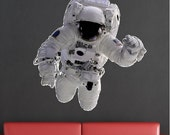 Astronaut Decal Peel and Stick Repositionable Removable Astronaut Wall Sticker