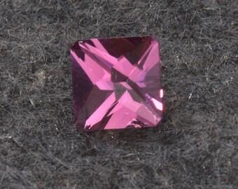 Pink Tourmaline custom cut 5.0mm sq. .69 carat Grade AA