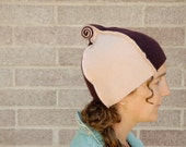 Reserved for Angela - Custom Adult Size Fiddleheads Recycled Cashmere Hat