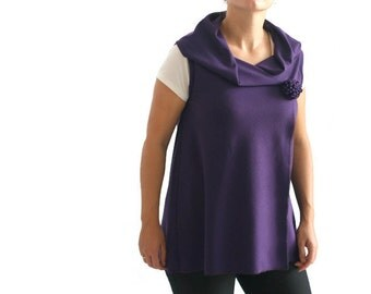 Oversized top, Wrap top, Violet cardigan, Shawl cardigan, Long cardigan, Womens clothing, Plus size clothes, Jersey vest, Shawl top