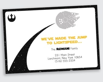 Star Wars Moving / New Address Announcement - DEPOSIT