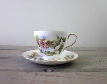 Ontario Canada Duchess Bone China Travel Souvenir Teacup and Saucer