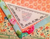 Triangle Quilt Fabric Label Set of 6