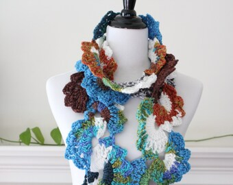 Crocheted multicolor Scarf