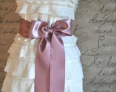 Satin sash in your choice of colors. Bridal belt Bridesmaids sash Flower Girl sash. Antique pink shown