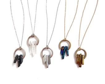 Quartz Point Necklace, Dainty Crystal Quartz Necklace, Quartz Jewelry