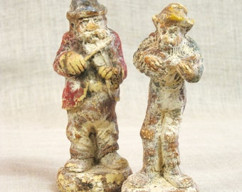 Musical Figurines , Male Portrait , Male Figures , Antique , Weathered , Pressed , Composite , Musicians , Music , Figurines , Males