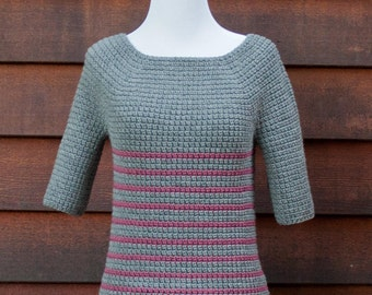 crochet sweater pattern. women's sweater pattern, crochet pattern, top down crochet, instant download, easy crochet patter