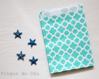 25 pcs - Moroccon Style - Mint Favor Paper Bags - Treat Bags - Favor Bags - Party Supplies - 25 units - Ready to ship