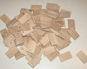 """Ash  wood Tiles blanks for decoupage ( lot of 100 )- (1,97x1,18"""" diameter x 0,20"""" thick)"""