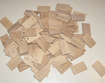 "Ash  wood Tiles blanks for decoupage ( lot of 100 )- (1,97x1,18"" diameter x 0,20"" thick)"