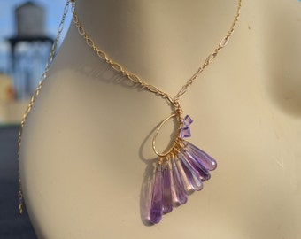 teardrop amethyst necklace...