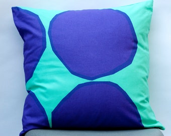 16x16 Marimekko Cushion Cover | Kivet pattern by Maija & Kristina Isola | Purple Pillow | Aqua Pillow | Modern design | Mid-century design