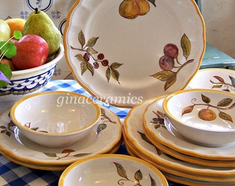 Hand Painted Ceramic Dinnerware for Four (4)