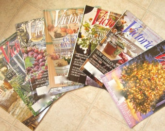 Victoria Magazine 1999 Seven Issues Vintage Magazines Christmas Holiday Ideas
