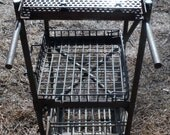 Tall Four Wheel Cart for shop or Artistic Supply Use (40 % DISCOUNT APPLIED)