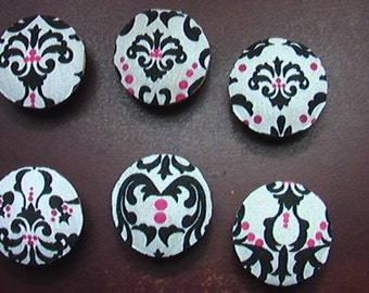 Damaks Pink and Black Handmade Knobs Drawer Pull Dresser Knob Pulls Switch Plate Covers to Match in Shop