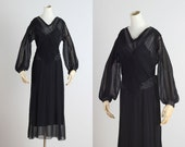Glensheen . vintage 1930s dress . vintage cocktail dress . 4415