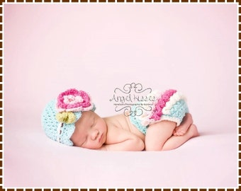 Flower Hat and Ruffle Diaper Cover Crochet Patterns, KENNEDY - pdf 220, 710