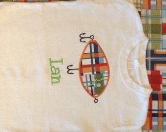 Boys Fishing Lure applique shirt