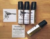 Violet Crowned Hummingbird Perfume Oil 1/3 oz. Roll-on Tube Lilac Lily Jasmine Lavender Lemon Essential Oil Fragrance